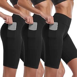Cadmus Women's High Waist Stretch Running Workout Shorts with Pocket