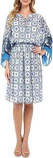 Adrianna Papell Women's PRNT Chiffon Loose Fit Dress