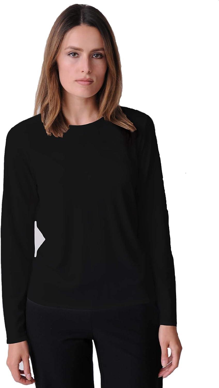 Eileen 正規取扱店 Fisher Lightweight Viscose 爆買いセール Jersey Crew - Neck Top N Style