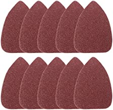 ANTAMS 10pcs 100mm Triangle Sandpaper Velcro Sanding Sheets Mouse Sander Pads New tool accessories