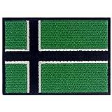 Bandiera della Vinland Vichingo Emblema LEIF Erikson Termoadesiva Cucibile Ricamata Toppa