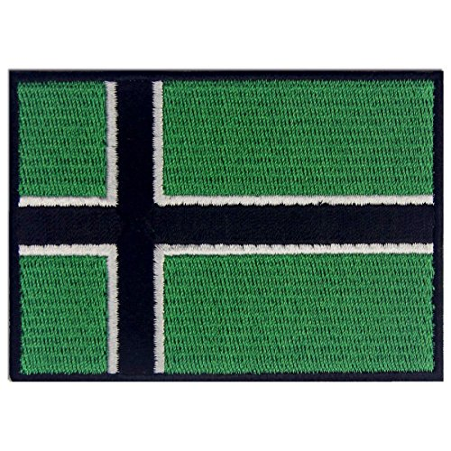 Vinland Wikinger Flagge Emblem Leif Erikson Bestickter Aufnäher zum Aufbügeln/Annähen