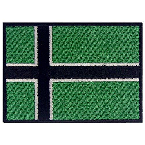 Bandera de Vinland Viking Emblema Leif Erikson Parche Bordado de Aplicación con Plancha
