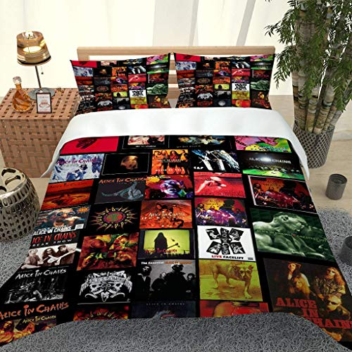 HHANN Duvet Cover Super King Size Beds Movie Pattern 3 Pcs With Zipper Closure With 2 Pillowcases Ultra Soft Easy Care Microfiber Quilt Cover 260X220cm