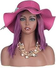 L7 Mannequin Black Female Mannequin Manikin Head Bust for Wig Display