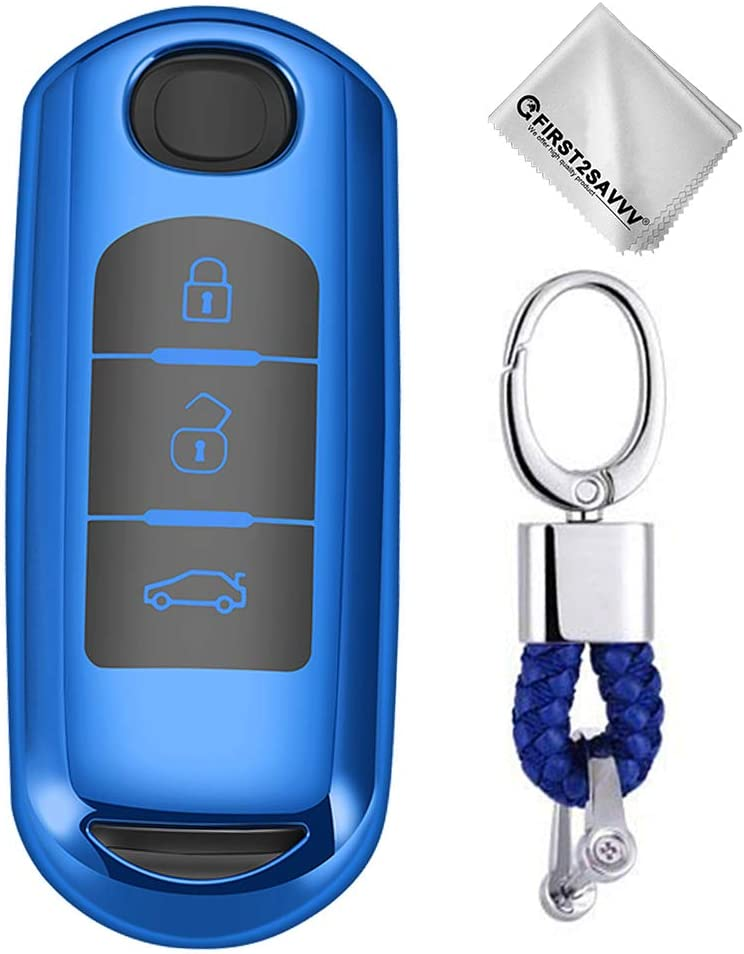 Key Protection Shell Auto Schlüssel Hülle Key Cover Case Etui Silikon Mit Schlüsselanhänger Für Mazda Cx