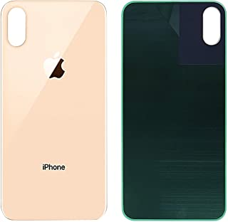 Best OEM iPhone Xs MAX Back Glass Cover Battery Door Replacement and Adhesive (Gold)