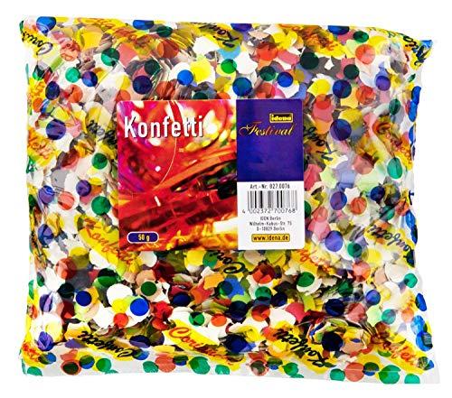Idena 8270076 - Konfetti, 50 g, Mehrfarbig (100g, bunt)