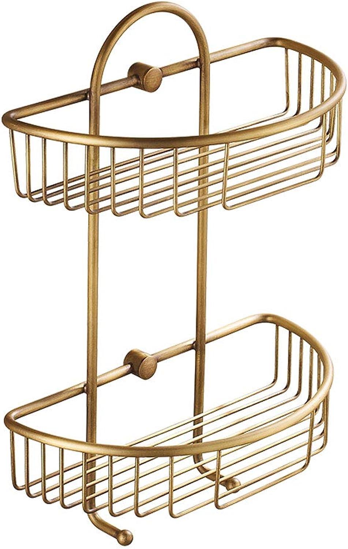 Retro Triangle Bathroom Hanging Basket Wall Hanging 2 Layer Corner Shelves Bathroom Accessories Storage Shelf Kitchen Hotel