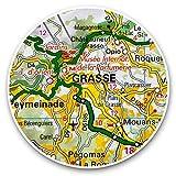 Impresionantes pegatinas de vinilo (juego de 2) 7,5 cm – Grasse Town Francia mapa de viajes divertido calcomanías para portátiles, tabletas, equipaje, reserva de chatarras, frigoríficos, regalo genial #45200