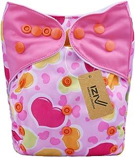 iZiv(TM) Recién Nacido Orgánico con 1 Inserte Grueso Infantil Impermeable/Ajustable/Reutilizable/Lavable Pañal de Tela de Bolsillo aptos Bebés 0-3 años(Color-1)