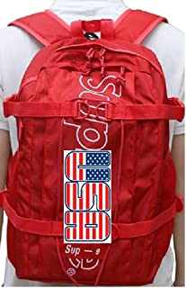 2019 SUP-E Series by Superstore USA Ultra Luxury Backpack Laptop Bag Red Black Vertical … (Red)