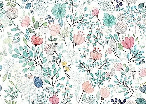 LJHHHH Tapete Benutzerdefinierte Hintergrundbilder Für Wände 3D-Vintage Handgemalten Floralen Wandbilder Für Wohnzimmer Schlafzimmer Tv-Kulisse Home Decor -297 cm (B) x 270 cm (H)