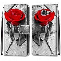 Laybomo Samsung Galaxy A5 (2016) / A510F ケース カバー 手帳型, [カードスロット]および[キックスタンド]付きの磁気閉鎖完全保護設計ウォレットフリップ 財布型カバー対応 Galaxy A5 (2016) / A510F電話ケース, 塗る 4