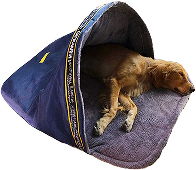 B&F Dog House, Kennel British Style Slippers Semiclosed Kennel Winter Warm Cat Litter Pet Nest Dog Mattress Pet Supplies (Size   XL)