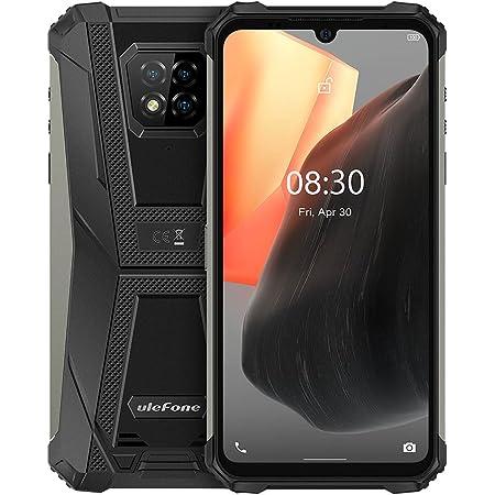 Ulefone Armor 8 Pro Móvil Resistente Android 11, 6.1'' HD + IP68 Impermeable Antigolpes Teléfono Libre, Helio P60 6GB + 128GB, Cámara Trasera Triple de 16MP, Desbloqueo Facial&Huella Digital Negro
