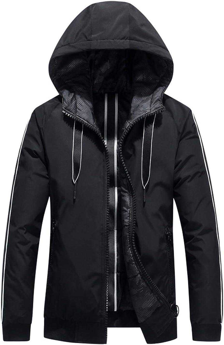 Hongsui Men's Winter Short Hooded Workwear Down Padded Jacket