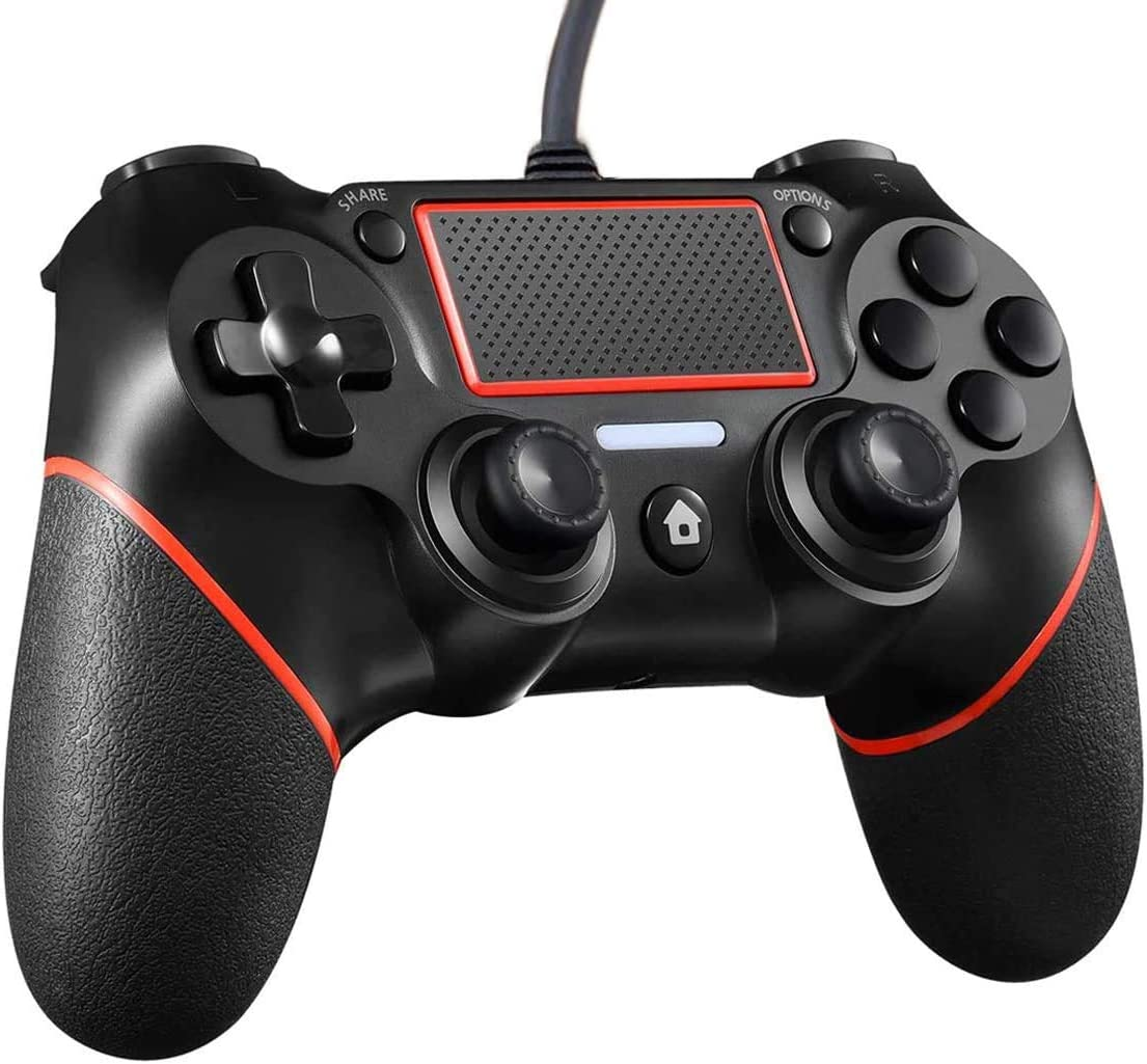 trust Latest item JEARLAKON PS4 Controller Wired Dual Vibration for 4 Playstation