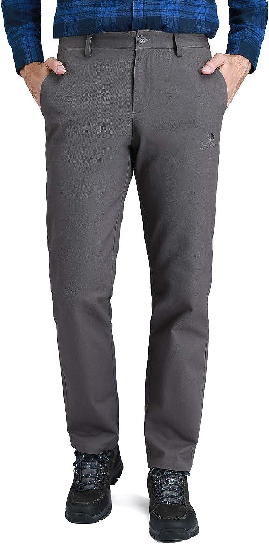 CAMEL CROWN Men's Work Pants Slim Fit Washed Dungaree Dress Pant