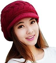 Lavany Women's Winter Knitted Hat Girl Skullies Beanies Faux Rabbit Fur Caps