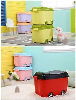 MU Bois Massif de boîte de Rangement portative de ménage, épaississement en Plastique de ménage vêtement de Couette nécess...