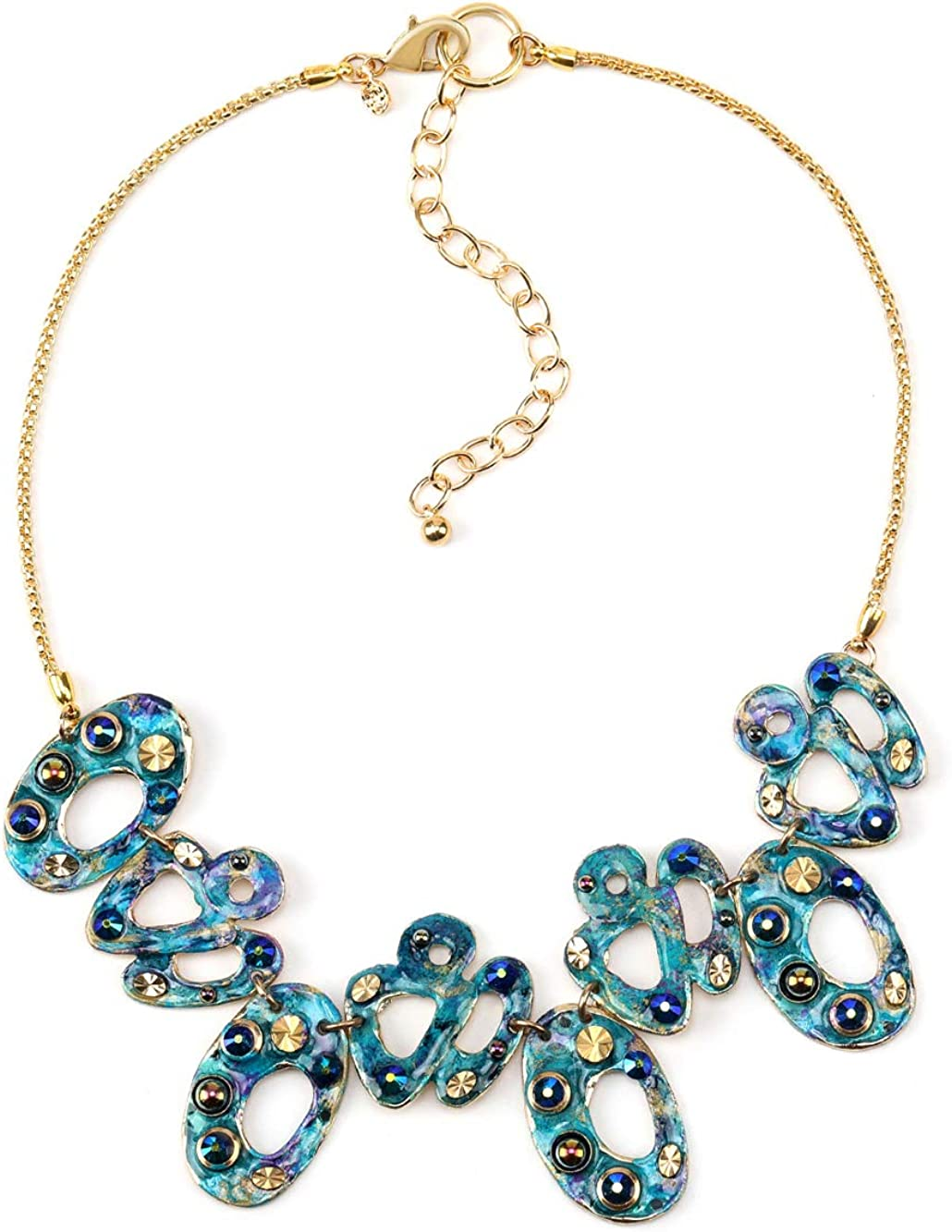 Treska Brand Linked Pieces Collar Necklace