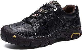 هدايا رجالية FEIHAIYANydx ، أحذية المشي لمسافات طويلة للرجال أحذية تسلق الرياضة في الهواء الطلق برباط من الجلد الطبيعي معط...