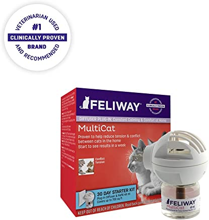 CEVA Animal Health Feliway MultiCat Diffuser Starter Kit | Constant Harmony & Calming Between Cats at Home