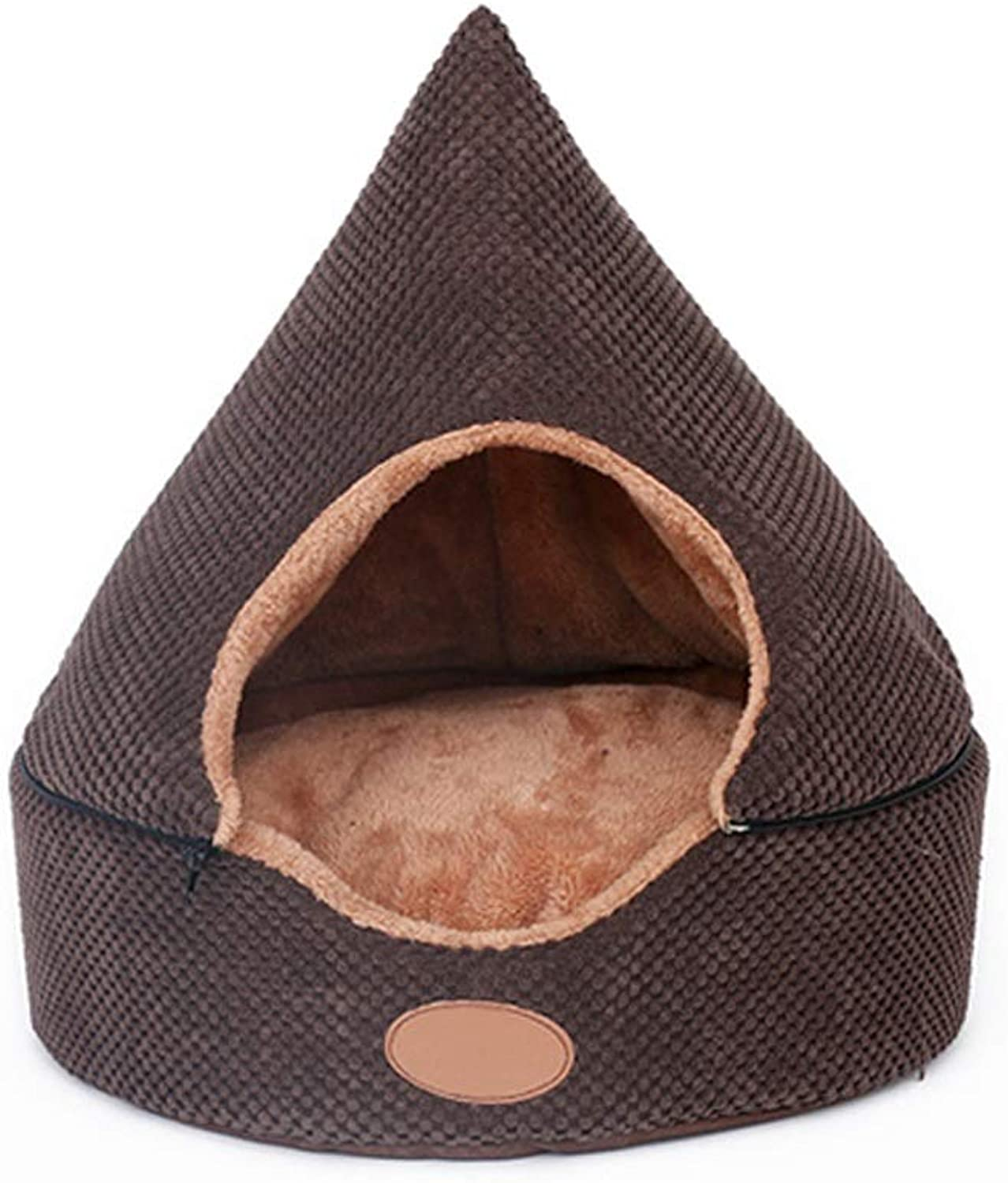 Pet Supplies. Pet Cave Tent Bed for Dogs and Cats,Portable Indoor Pet House Cat Hideout,3 Sizes (Size   L)