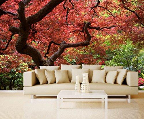 Vlies XXL-poster behang fotobehang natuur Japanse tuin 2 300 x 220 cm 3-tlg. wit