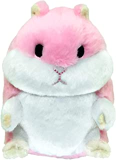 PetSport Tiny Tots Plush Super Soft Dog Toy with Squeaker Made for Small Dogs (Fat Hamster Pink)