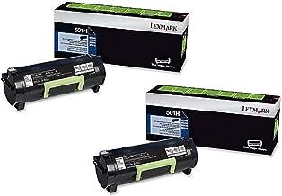 Lexmark 501H (50F1H00) High Yield Toner Cartridge 2-Pack