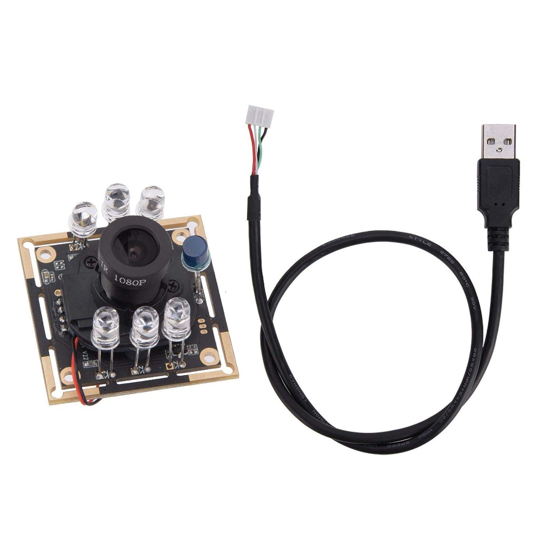 Módulo de cámara de 1 pieza, módulo de cámara con cable USB Hd OV9732 Chip IR-CUT Reconocimiento facial por infrarrojos 1280x720 30fps 72 ° para equipos mecánicos, máquinas expendedoras, etc.