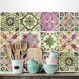 24 (Piezas) Adhesivo para Azulejos 20x20 cm - PS00061 - Antigua Provenza - Adhesivo Decorativo para Azulejos para baño y Cocina - Stickers Azulejos - Collage de Azulejos