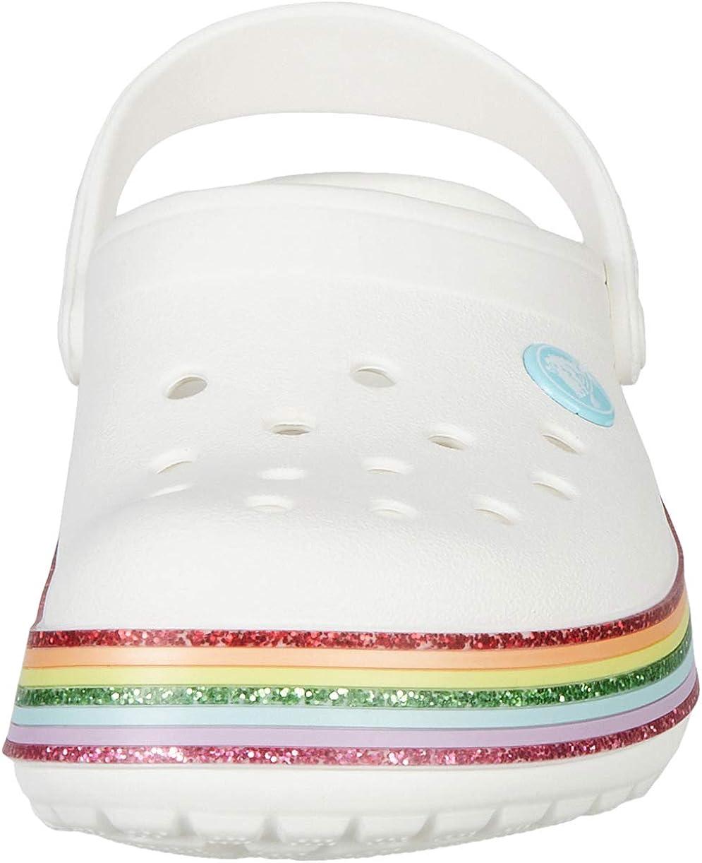 Crocs Unisex Kids Crocband Rainbow Glitter Clogs