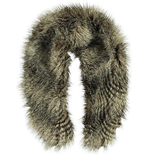 Passigatti Fake Fur sjaal bruin, 100 x 18 cm