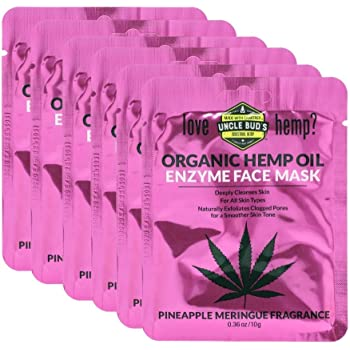 Hemp Enzyme Face Mask with Pure Organic Hemp Seed Oil – 6 Pack Bundle