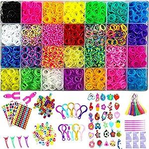 YITOHOP 12000+ Colorful Loom Bands Set , Premium Rubber Bands for Bracelet Making Kit DIY Band Bracelet Mega Refill Kit…