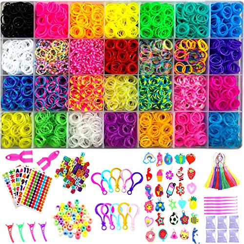 YITOHOP 12000+ Colorful Loom Bands Set , Premium Rubber Bands for Bracelet Making Kit DIY Band Bracelet Mega Refill Kit Girls Gift to Improve Imagination