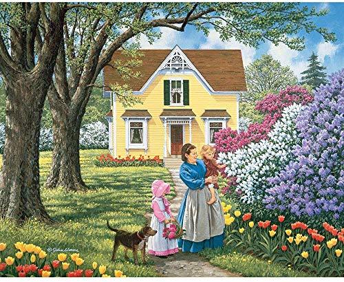 - 300 Piece Jigsaw Puzzle for Adults  - Precious Flowers - 300 pc Country Farmhouse Flower Garden Jigsaw Finished size: 40cm*28cm