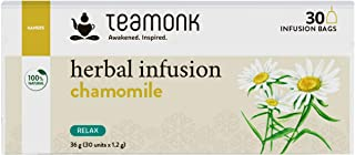 Sponsored Ad - Teamonk Chamomile Herbal Infusion Tea Bags - 30 Teabags | Herbal Tisane Tea | Tea for Relaxation | Refreshi...