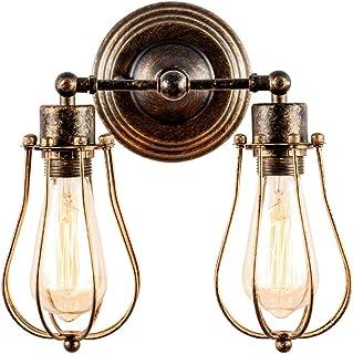 comprar comparacion Aplique de pared Industrial Lámpara Rústica para Loft Antiguo Enchufe de alambre Ajustable Edison Vintage Metal Retro Lámp...