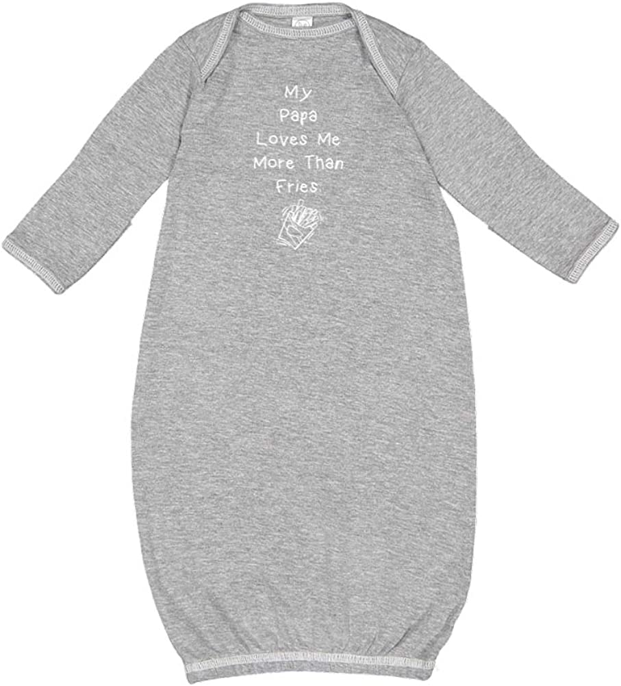 Max Max 65% OFF 89% OFF My Papa Loves Me More Than Gown Sleeper Cotton Baby Fries -