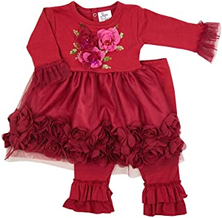 Haute Baby Boutique Girls Red Christmas Dress | Ruby Sparkle