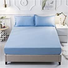Mattress Cover Polyester Waterproof Breathable Mattress Protector with Adjustable Buckle Not Easy to Pilling Sweat Absorpt...