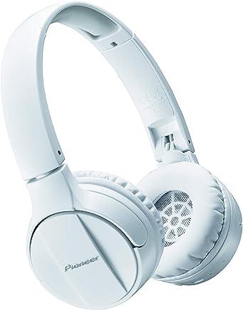 Pioneer Bluetooth Lightweight On Ear Wireless Stereo Headphones, White SE-MJ553BT(W)