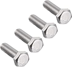uxcell M6 Thread 20mm 304 Stainless Steel Hex Left Hand Screw Bolts Fastener 4pcs