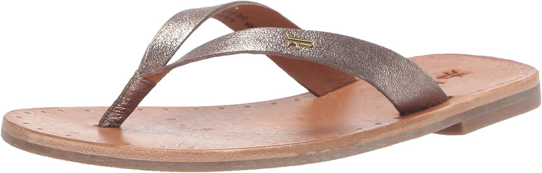 Frye Womens Azalea Logo Flip Flop Flat Sandal