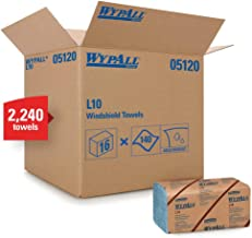 WypAll 05120 L10 Windshield Wipers, Banded, 2-Ply, 9 3/10 x 10 1/4, 140 per Pack (Case of 16 Packs)