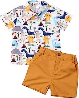 Geagodelia Vêtements Ensembles Bébé Garçons Polo T-Shirts Tops à Manches Courtes + Short Pantalons Courts Ensemble 2 Pièce...